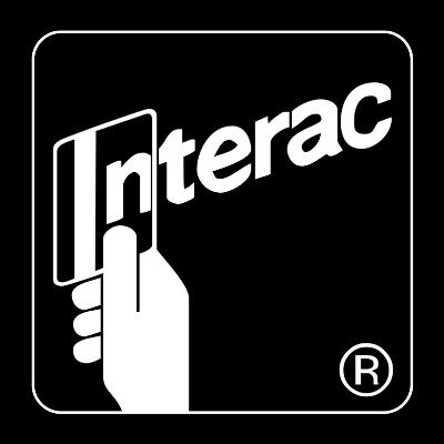 interac logo black and white