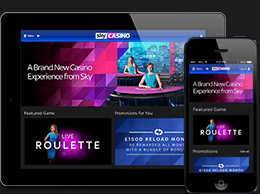 Sky Casino available on tablets and mobile