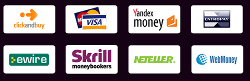 Just a few of the payment options on Slots Magic.