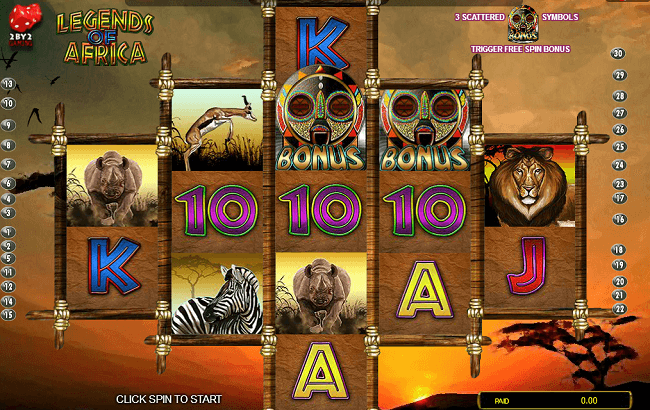 legends of africa the whole slot