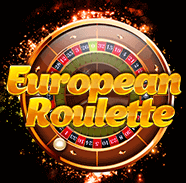 European Roulette in gold text with a roulette wheel in the background
