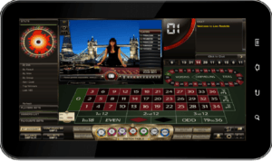 Image of a live roulette mobile game