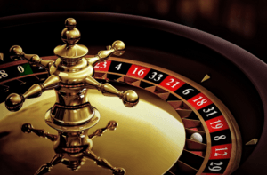 Photo of a part of a roulette wheel