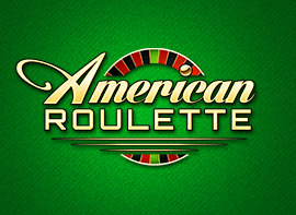 American Roulette in light yellow text with a Roulette wheel behind it and a green background