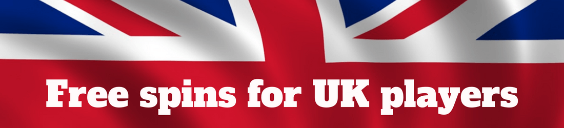 Free spins for Uk players logo with flag