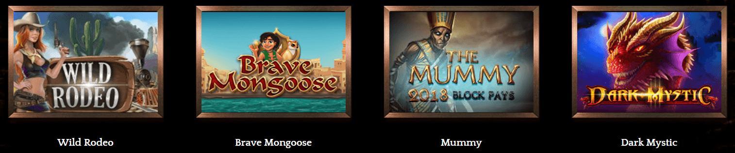Games at Bronze casino