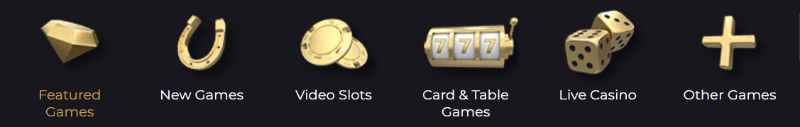 Games at Split Aces casino