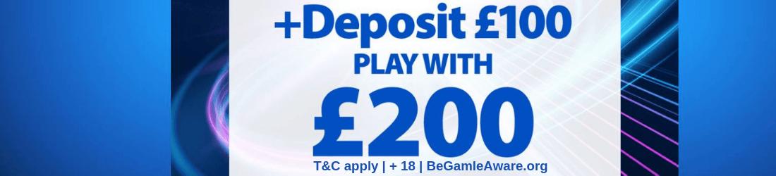 bgo 100% bonus up to £200