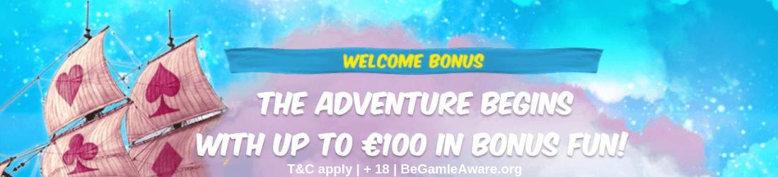 Vera & John £100 welcome bonus